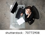 overhead view of a business...   Shutterstock . vector #70772908