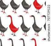 stylish seamless pattern. hand...   Shutterstock .eps vector #707729122