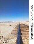 chiguana railway  the...   Shutterstock . vector #707743222