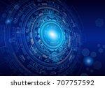 technology background  ... | Shutterstock .eps vector #707757592