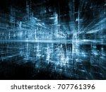 digital city series. visually... | Shutterstock . vector #707761396