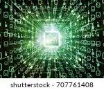 computing machine series.... | Shutterstock . vector #707761408