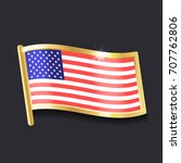 american flag in the form of an ... | Shutterstock .eps vector #707762806