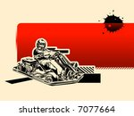 red racing background | Shutterstock .eps vector #7077664