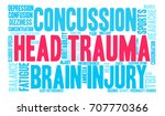 head trauma word cloud on a... | Shutterstock .eps vector #707770366