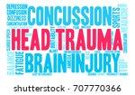 head trauma word cloud on a...   Shutterstock .eps vector #707770366