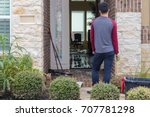 house flooded after hurricane... | Shutterstock . vector #707781298