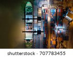 container ship in import export ...   Shutterstock . vector #707783455