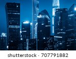 architectural complex at night... | Shutterstock . vector #707791882