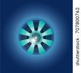 futuristic  eye effect for... | Shutterstock .eps vector #707800762