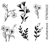 collection of hand drawn... | Shutterstock .eps vector #707820622