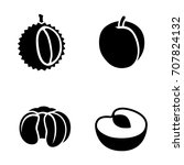 fruit vector icons | Shutterstock .eps vector #707824132