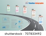 business road map timeline... | Shutterstock .eps vector #707833492