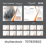 set desk calendar 2018 template ... | Shutterstock .eps vector #707835832