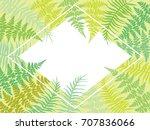 fern frond bracken rhombus... | Shutterstock .eps vector #707836066