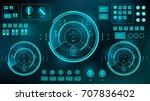 futuristic virtual graphic... | Shutterstock .eps vector #707836402