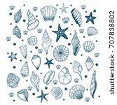hand drawn vector illustrations ... | Shutterstock .eps vector #707838802