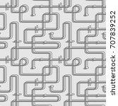 seamless vector pattern. maze... | Shutterstock .eps vector #707839252