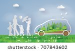 concept of environmentally... | Shutterstock .eps vector #707843602