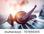 communication support  call... | Shutterstock . vector #707850355