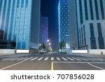 empty road and modern office... | Shutterstock . vector #707856028