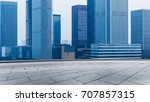 empty square front of modern... | Shutterstock . vector #707857315