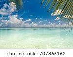 summer beach background. copy... | Shutterstock . vector #707866162