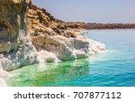dead sea  dead sea salt  | Shutterstock . vector #707877112