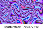 neon waves. illusion.... | Shutterstock . vector #707877742