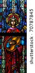 stained glass window of angel... | Shutterstock . vector #70787845