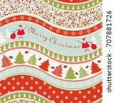 christmas seamless colorful... | Shutterstock .eps vector #707881726
