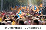 barcelona  spain   september 11 ... | Shutterstock . vector #707885986