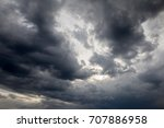 dramatic sky with imressive... | Shutterstock . vector #707886958
