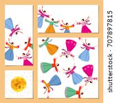 "set of greeting card ""happy... 