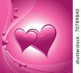 valentines vector background. | Shutterstock .eps vector #70789840