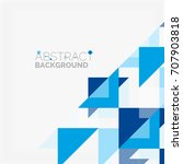 triangle pattern design...   Shutterstock .eps vector #707903818