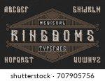 original label typeface named ... | Shutterstock .eps vector #707905756