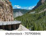 the grand loop road ... | Shutterstock . vector #707908846