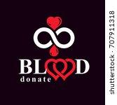 donate blood inscription... | Shutterstock .eps vector #707911318