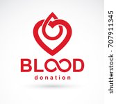 blood donation inscription... | Shutterstock .eps vector #707911345