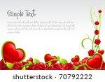 illustration of valentine card... | Shutterstock .eps vector #70792222