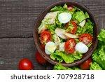 Fresh Salad Caesar With Chicke...