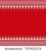 seamless knitting pattern.... | Shutterstock .eps vector #707932276