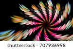 fantastic spiral. the spiral... | Shutterstock . vector #707936998