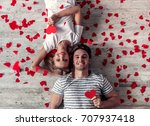 top view of beautiful young...   Shutterstock . vector #707937418