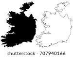 ireland map vector illustration ... | Shutterstock .eps vector #707940166
