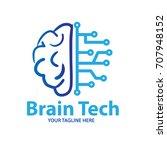brain tech logo | Shutterstock .eps vector #707948152
