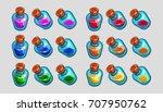 magic cartoon bottles with...
