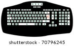 the keyboard of the rich people ... | Shutterstock .eps vector #70796245