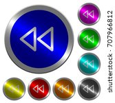 media fast backward icons on... | Shutterstock .eps vector #707966812
